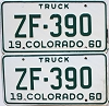 1960 Colorado Truck pair #ZF-390, Ouray County