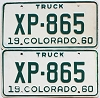 1960 Colorado Truck pair # XP-865, Lincoln County
