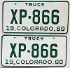 1960 Colorado Truck pair # XP-866, Lincoln County