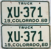 1960 Colorado Truck pair # XU-371, Saguache County