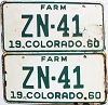 1960 Colorado Farm pair # ZN-41, Hinsdale County