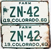 1960 Colorado Farm pair # ZN-42, Hinsdale County