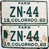 1960 Colorado Farm pair # ZN-44, Hinsdale County