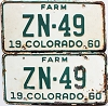 1960 Colorado Farm pair # ZN-49, Hinsdale County