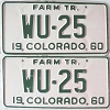 1960 Colorado Farm Tractor pair # WU-25, Kit Carson County