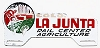1960s La Junta Colorado license plate topper, rail / agriculture center
