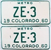 1960 Colorado Metro pair # ZE-3, San Juan County
