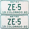 1960 Colorado Metro pair # ZE-5, San Juan County