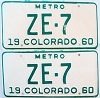 1960 Colorado Metro pair # ZE-7, San Juan County