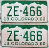 1960 Colorado pair # ZE-466, San Juan County