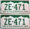 1960 Colorado pair # ZE-471, San Juan County