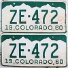 1960 Colorado pair # ZE-472, San Juan County
