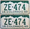 1960 Colorado pair # ZE-474, San Juan County