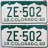 1960 Colorado pair # ZE-502, San Juan County