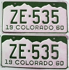 1960 Colorado pair # ZE-535, San Juan County