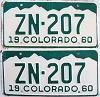 1960 Colorado pair # ZN-207, Hinsdale County