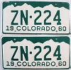 1960 Colorado pair # ZN-224, Hinsdale County