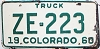 1960 Colorado Truck # ZE-223, San Juan County
