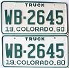 1960 Colorado Truck pair # WB-2645, Montrose County