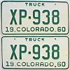 1960 Colorado Truck pair # XP-938, Lincoln County
