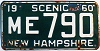 1960 New Hampshire # ME 790