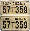 1960 South Dakota Farm Truck pair # 359, Spink County