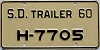 1960 South Dakota House Trailer # H-7705
