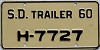 1960 South Dakota House Trailer # H-7727