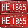 1961 Illinois pair #HE 1865