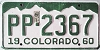 1961 Colorado # PP-2367, Arapahoe County