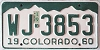 1961 Colorado # WJ-3853, Rio Grande County