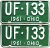1961 Ohio pair # UF-133