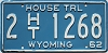 1962 Wyoming House Trailer #1268, Laramie County