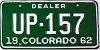 1962 Colorado Dealer # UP-157, Fremont County