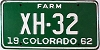 1962 Colorado Farm low # XH-32, Chaffee County