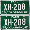 1962 Colorado Farm Truck pair # XH-208, Chaffee County