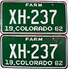 1962 Colorado Farm Truck pair # XH-237, Chaffee County