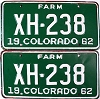 1962 Colorado Farm Truck pair # XH-238, Chaffee County