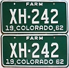 1962 Colorado Farm Truck pair # XH-242, Chaffee County