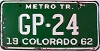 1962 Colorado Metro Tractor low # GP-24, Pueblo County