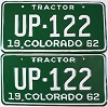 1962 Colorado Tractor pair # UP-122, Fremont County