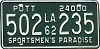 1962 LOUISIANA Private Owned Tandem Truck license plate # 502-235