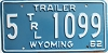1962 Wyoming Trailer # 1099, Albany County