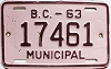 1963 British Columbia Municipal # 17461