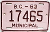 1963 British Columbia Municipal # 17465