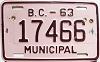1963 British Columbia Municipal # 17466
