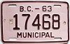 1963 British Columbia Municipal # 17468