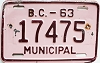 1963 British Columbia Municipal # 17475