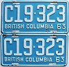 1963 British Columbia Truck pair # C19-323
