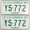 1963 Colorado Farm Truck pair # YS-772, Douglas County